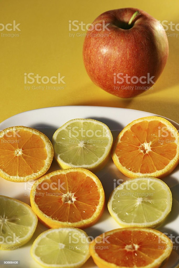 fruits full and sliced royalty-free stock photo