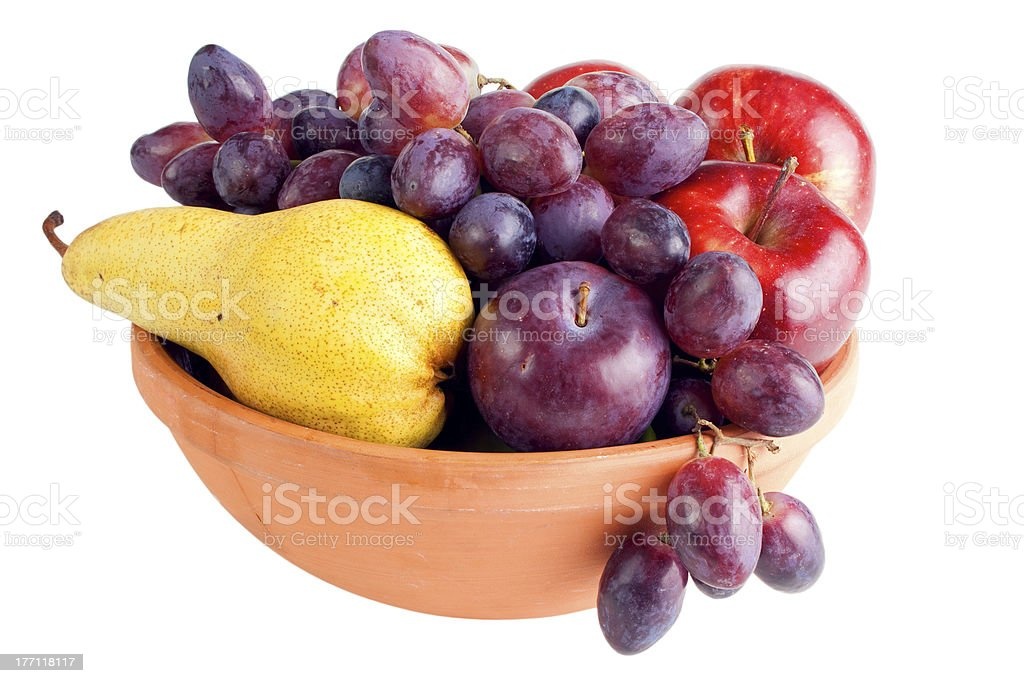 Fruits in bowl royalty-free stock photo