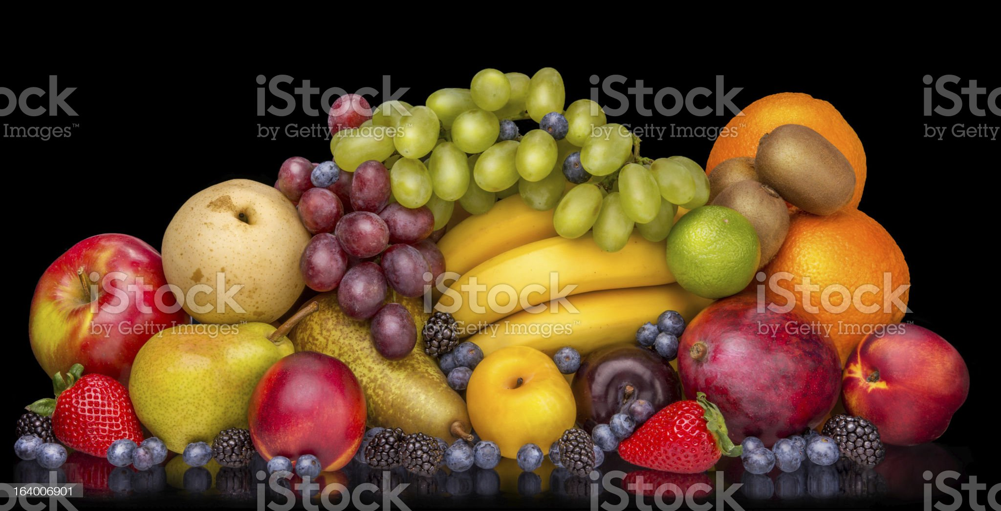 Fruits IN The Dark royalty-free stock photo