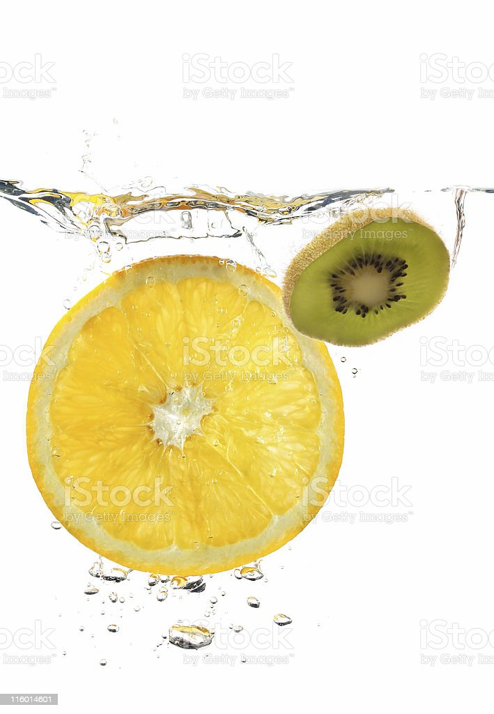 fruits in water royalty-free stock photo