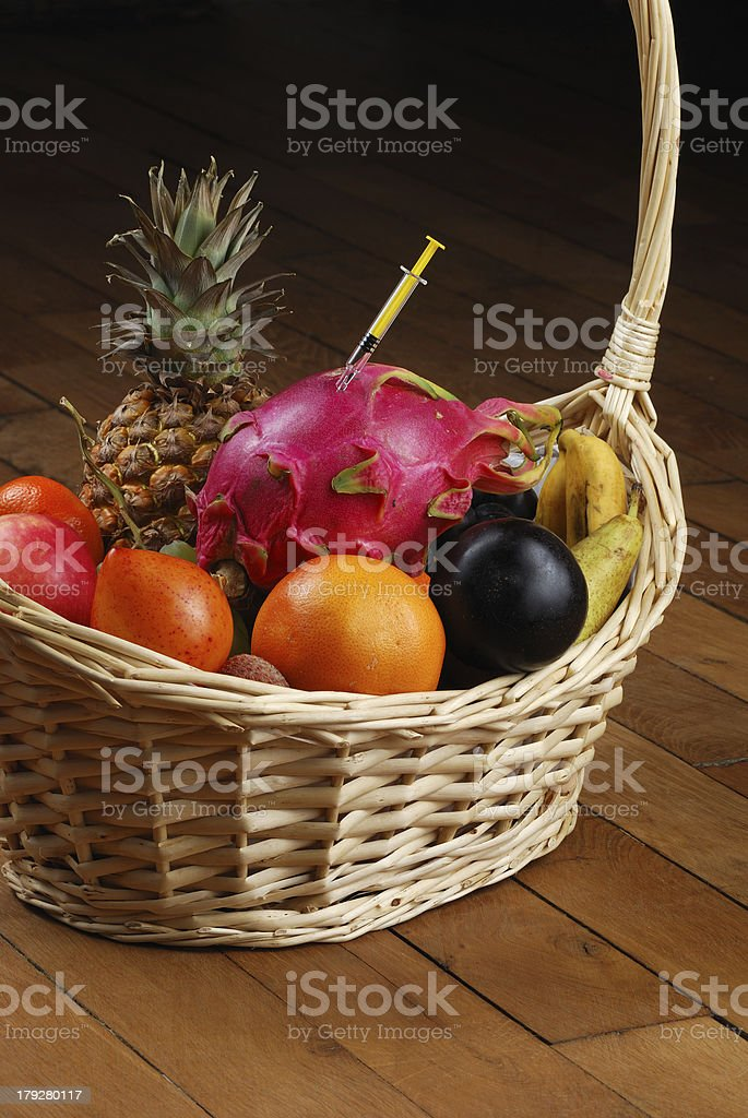 fruits injection royalty-free stock photo