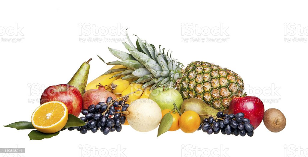 fruits isolated on white royalty-free stock photo