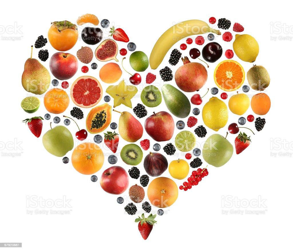 Fruits love stock photo