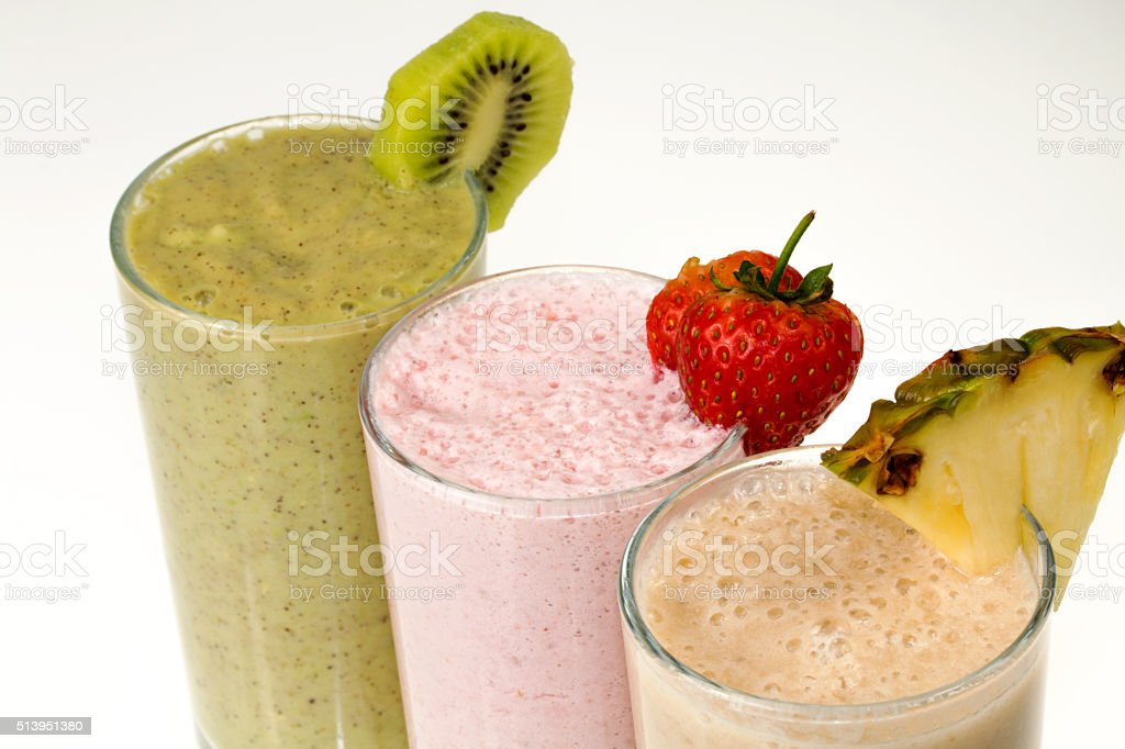 fruits milk shake stock photo