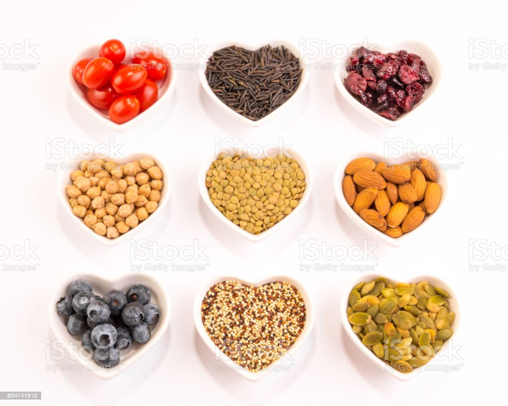 Fruits, Nuts and Grains stock photo