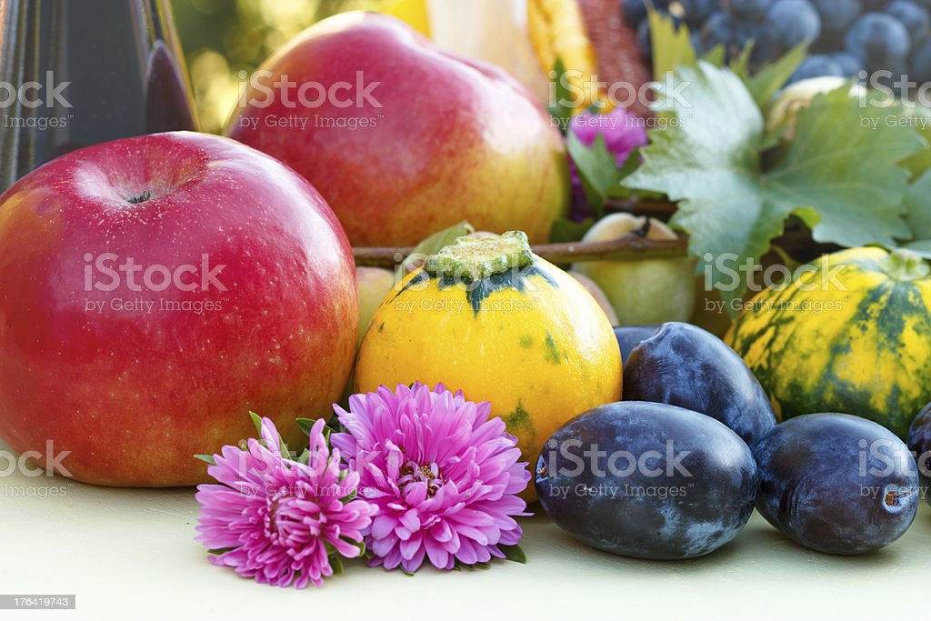 Fruits of summer and fall royalty-free stock photo
