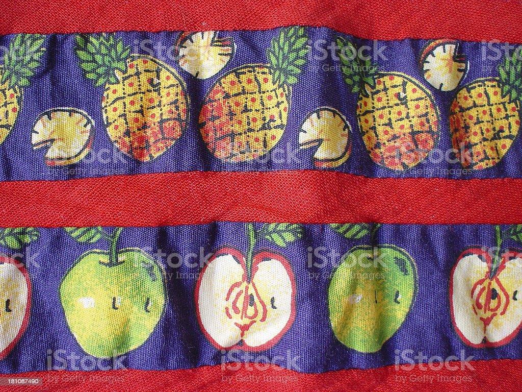Fruits on fabric stock photo