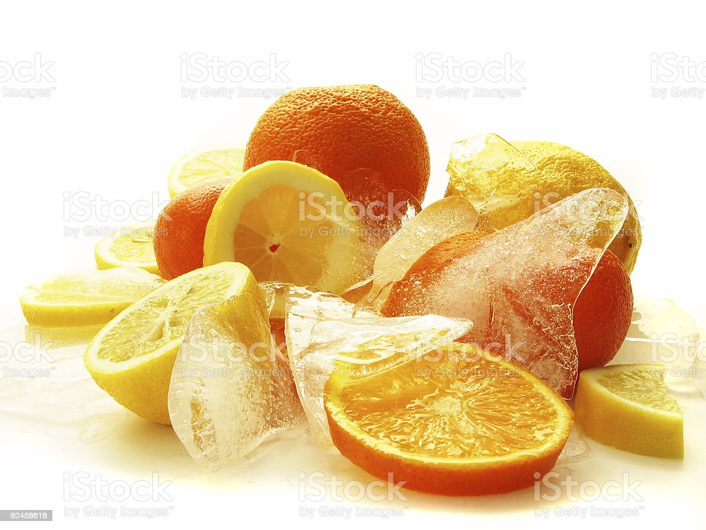 fruits on Ice royalty-free stock photo
