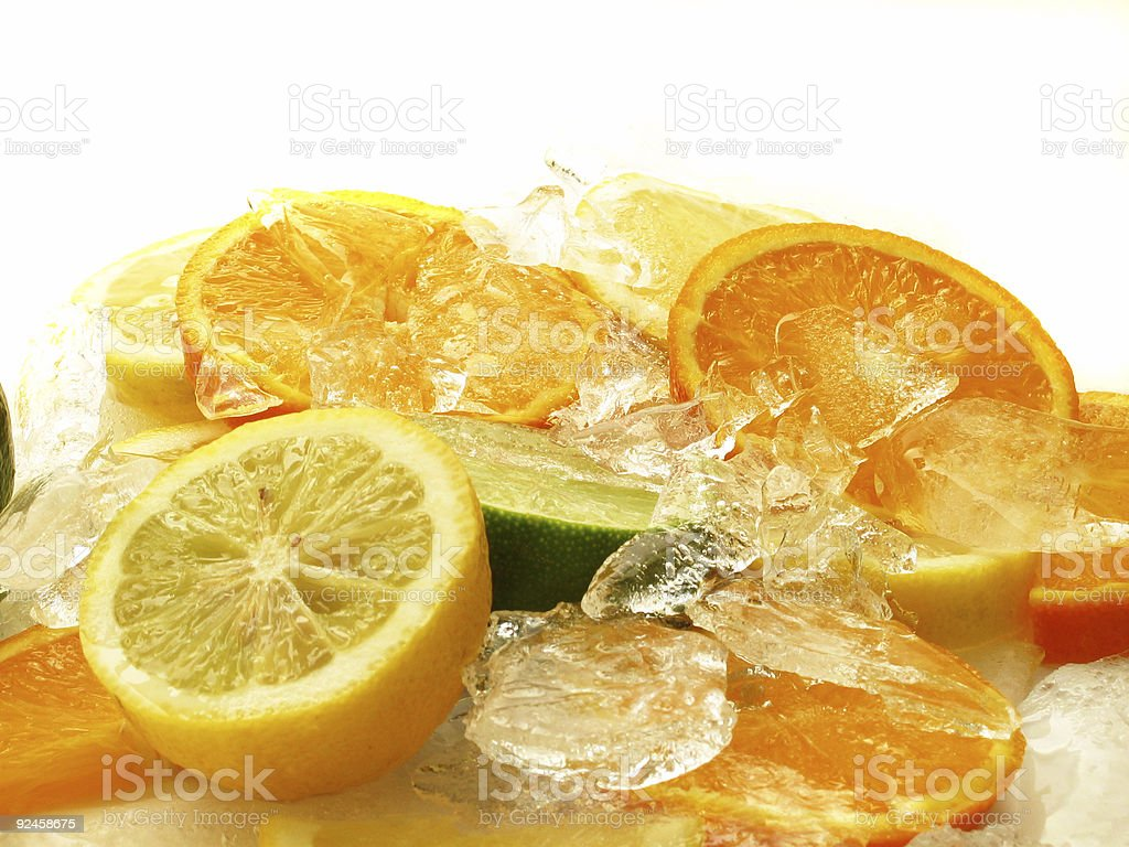 fruits on Ice stock photo