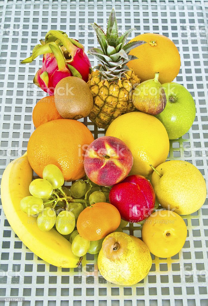 fruits on metal stock photo