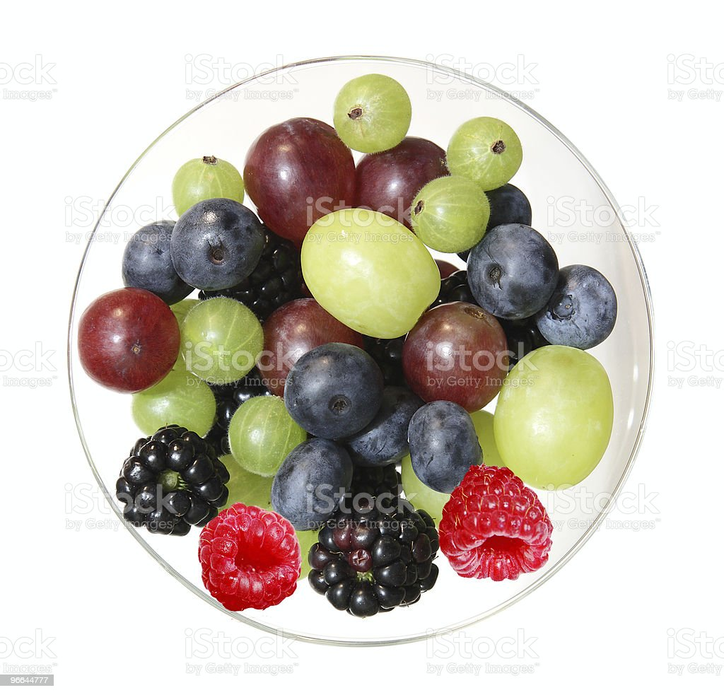 Fruits on plate royalty-free stock photo