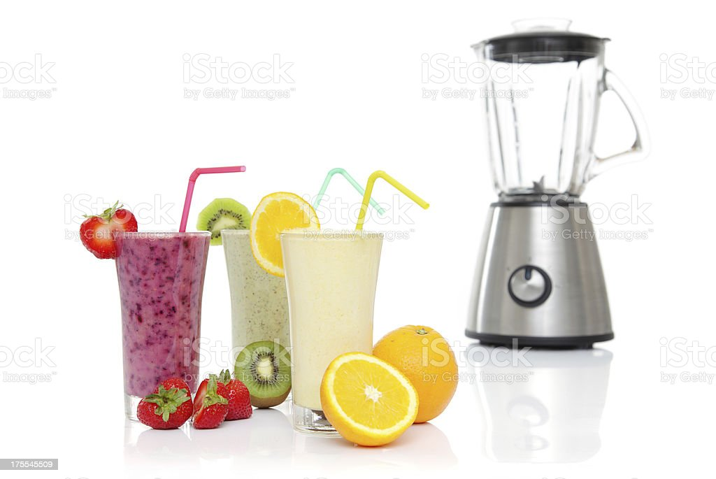 Fruits Smoothies with Blender royalty-free stock photo