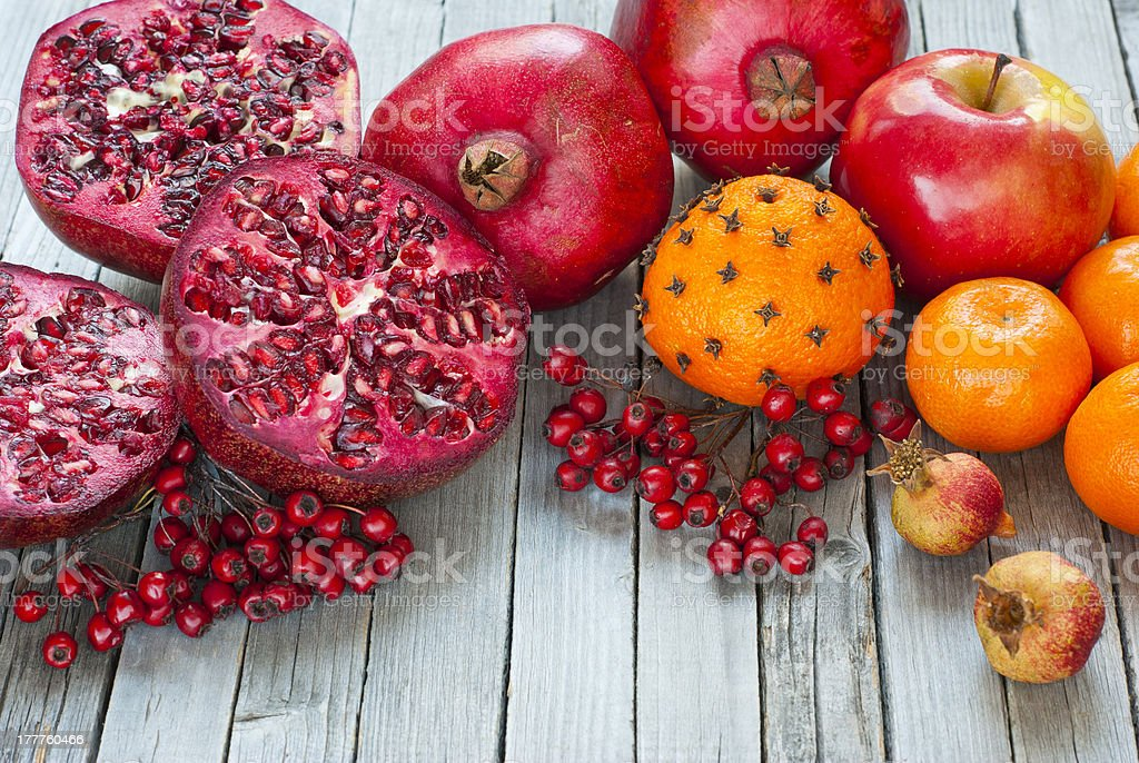 Fruits, spices stock photo