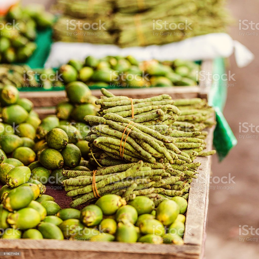 Fruits Stall in Indonesia stock photo