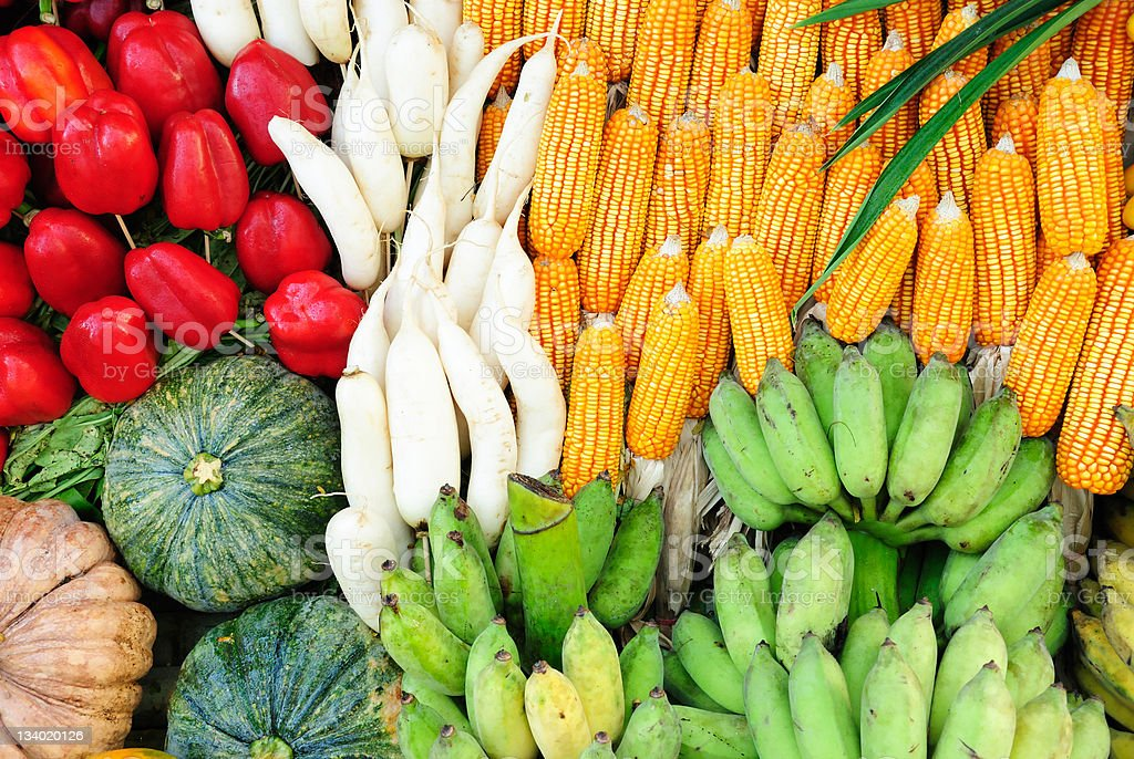 Fruits & Vegetables. royalty-free stock photo