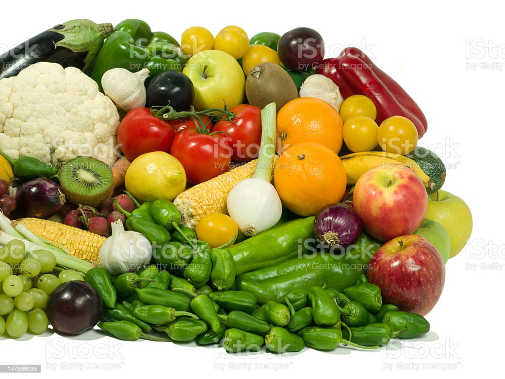Fruits & Vegetables royalty-free stock photo
