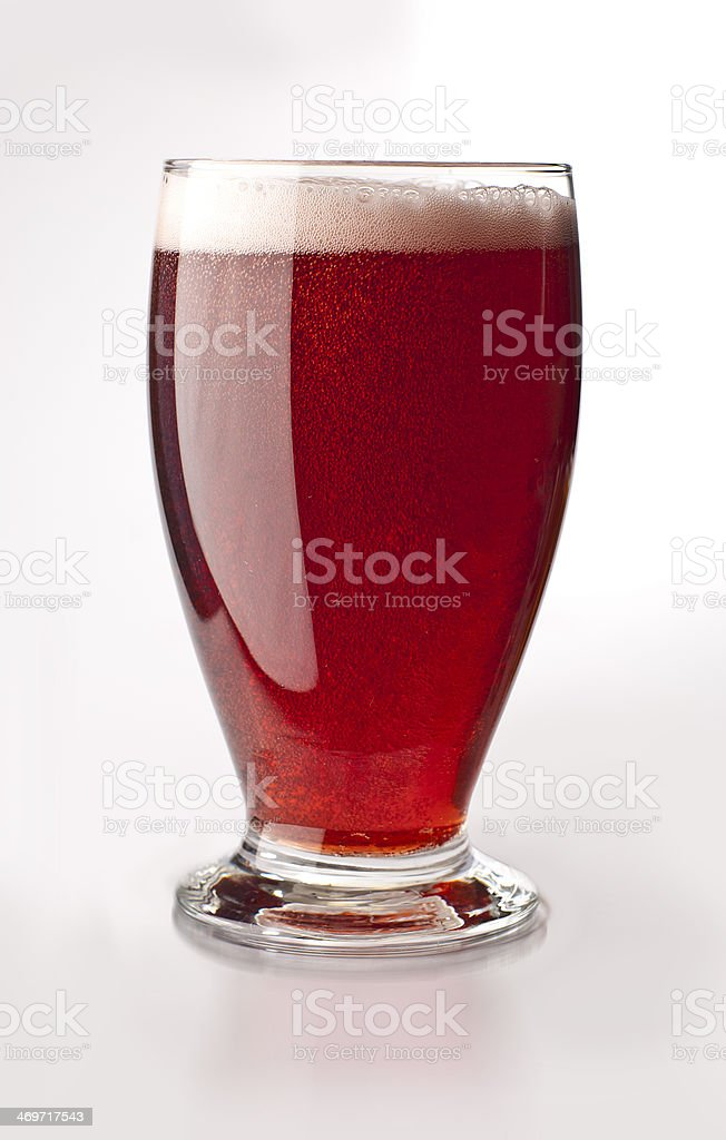 Fruity beer on white background stock photo