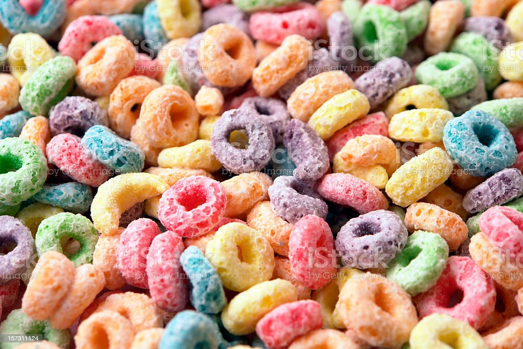 Fruity Cereal stock photo