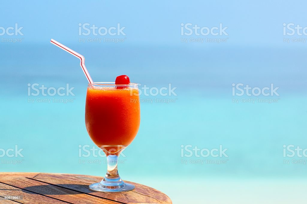 fruity cocktail stock photo