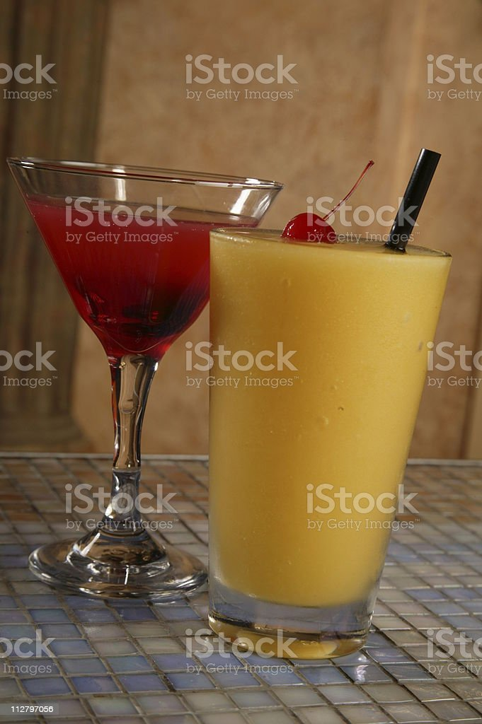 Fruity Cocktails royalty-free stock photo