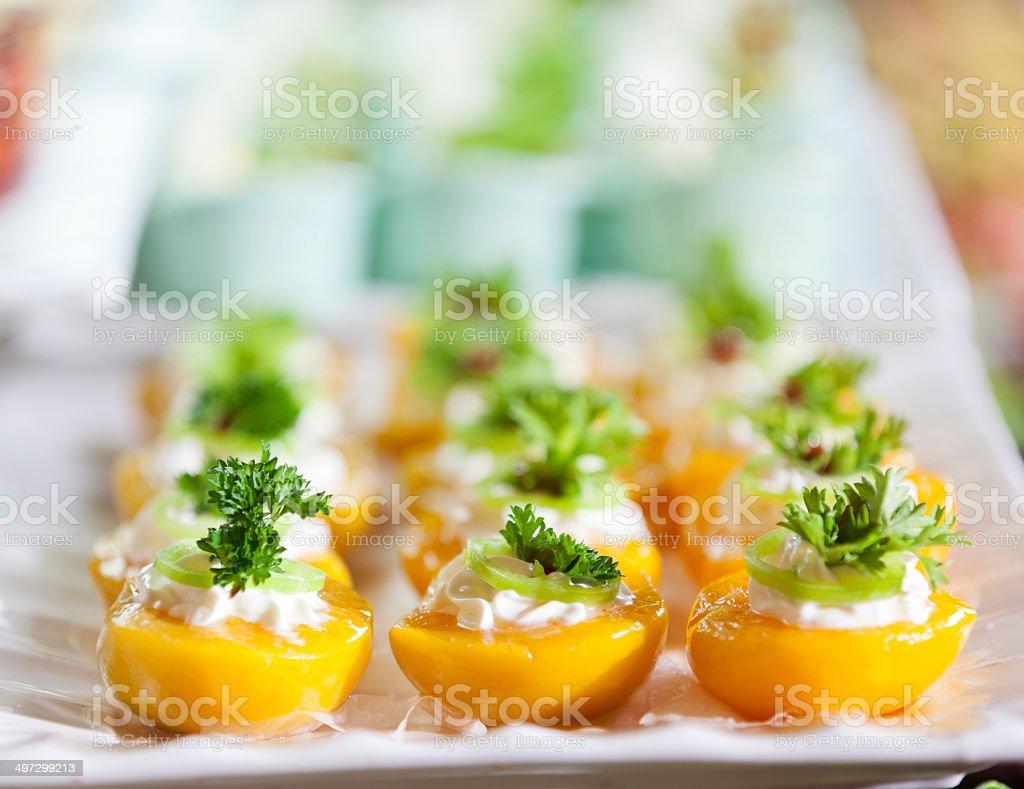 fruity dessert stock photo