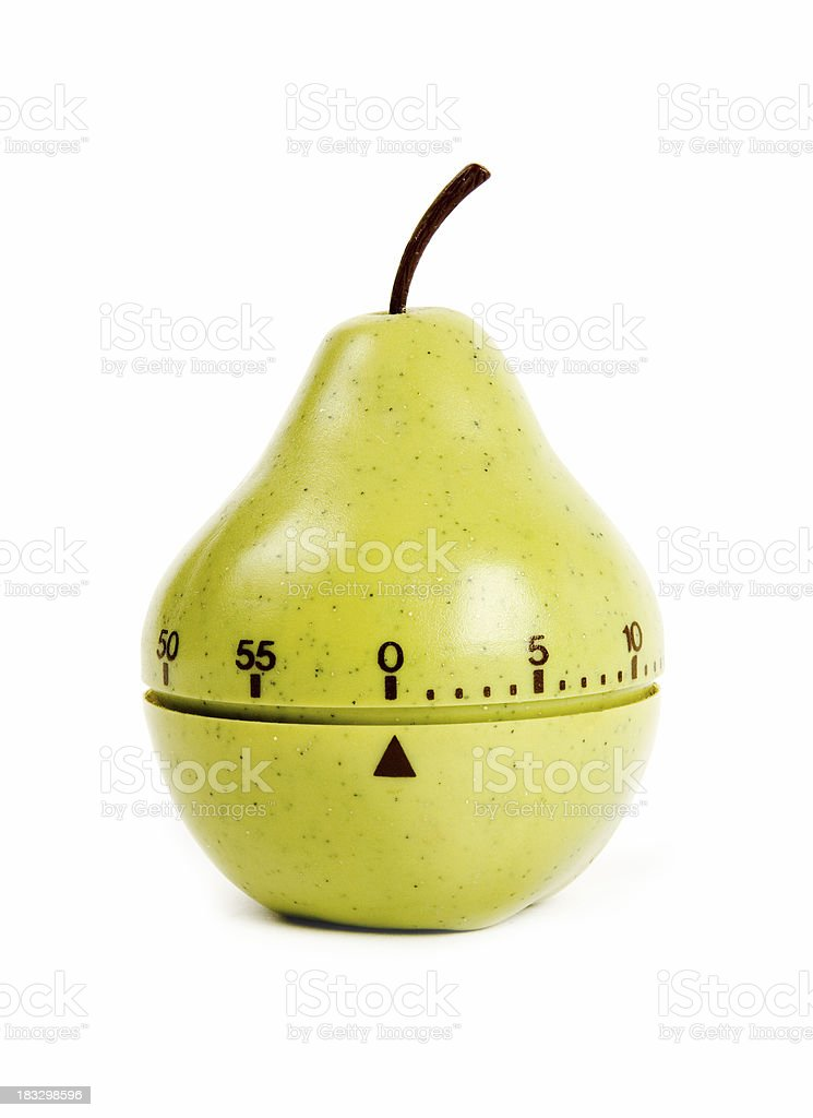 Fruity egg timer stock photo