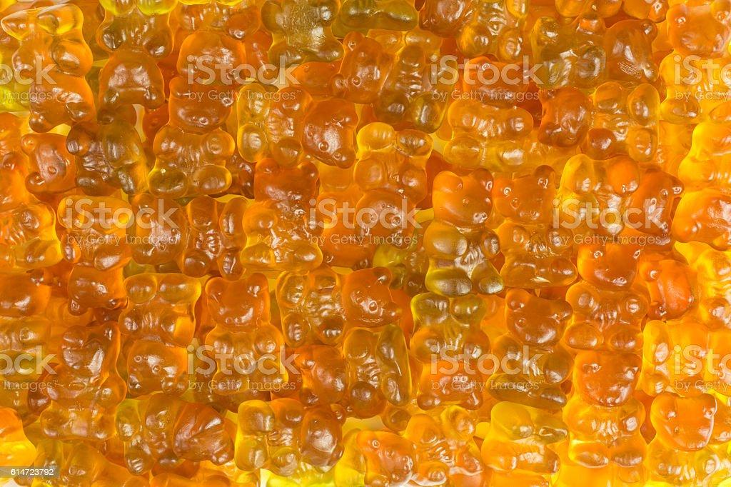 fruity gummy bears background stock photo