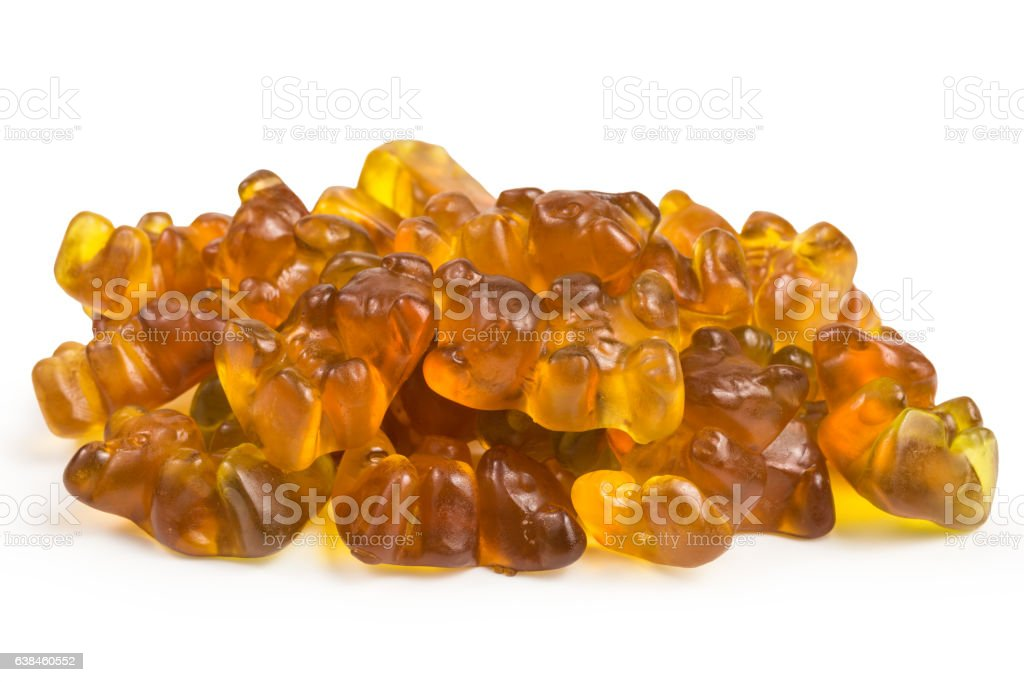 fruity gummy bears stock photo