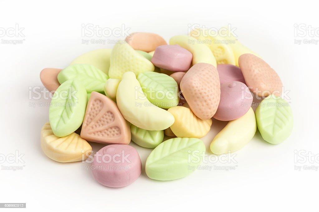 fruity gummy yogurt candies stock photo