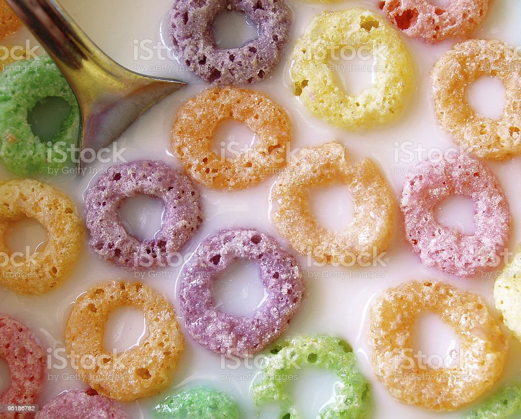 fruity o cereal stock photo