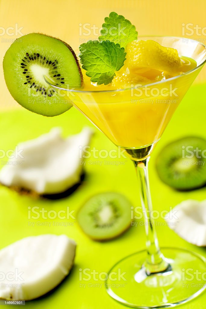 fruity summer cocktail royalty-free stock photo