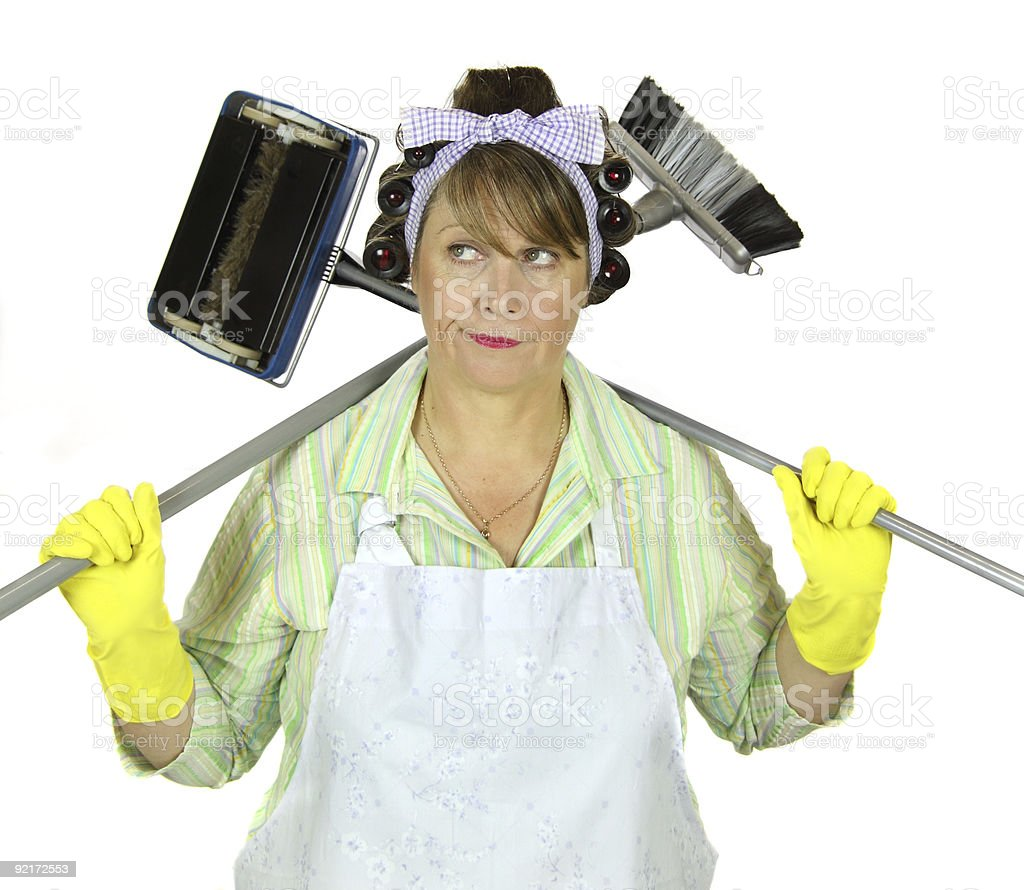 Frumpy Cleaning Housewife royalty-free stock photo