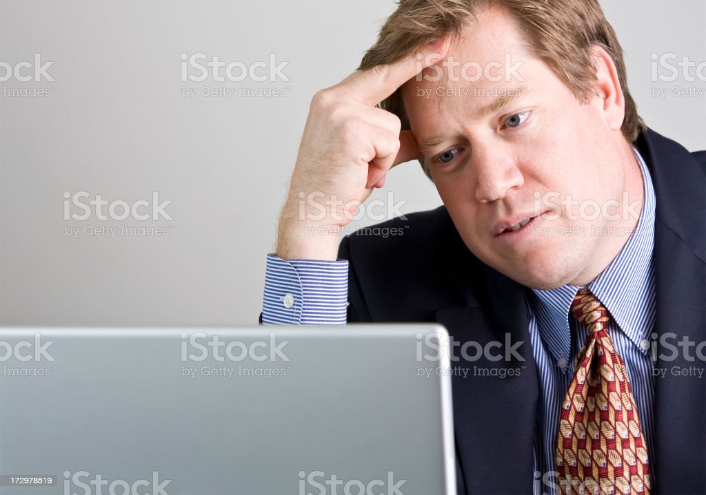 frustrated at computer royalty-free stock photo