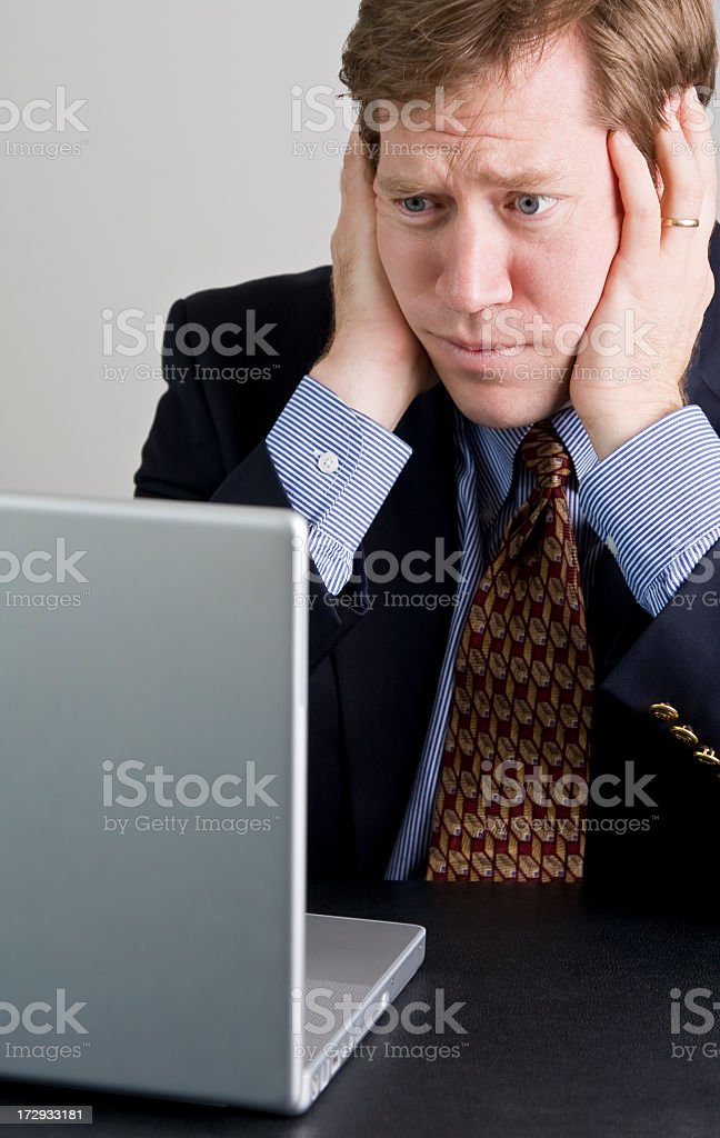 Frustrated at Work royalty-free stock photo