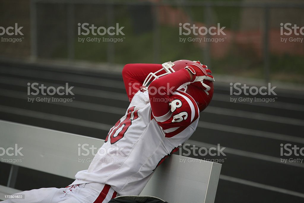 Frustrated Athlete royalty-free stock photo