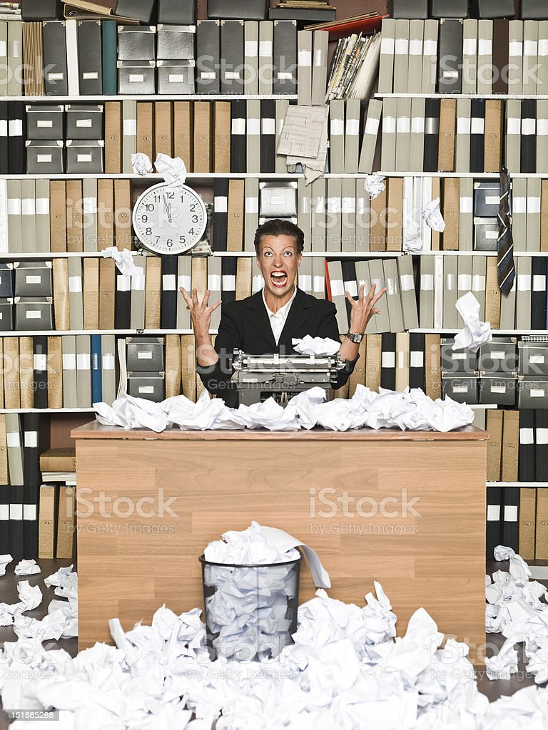 Frustrated Author stock photo