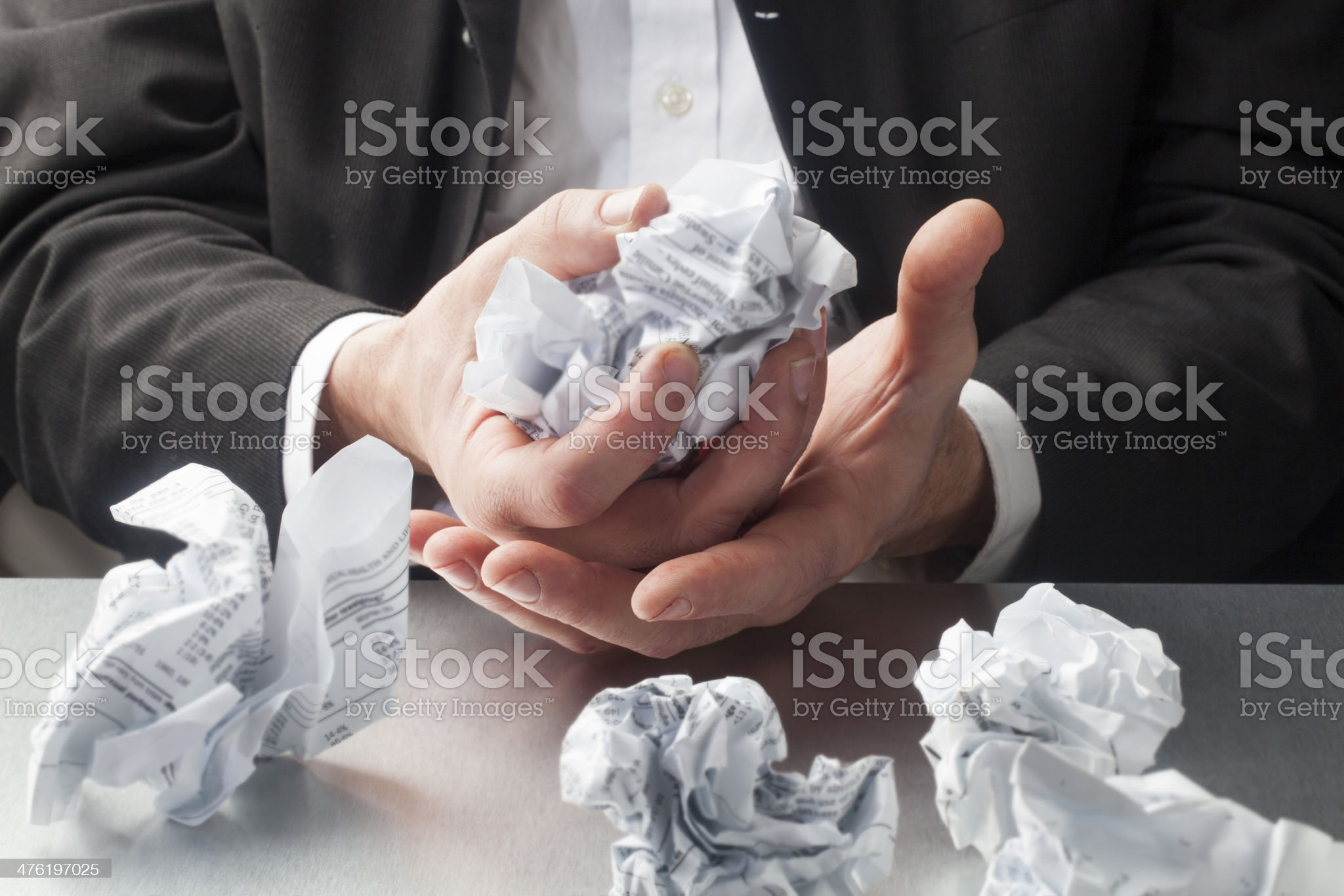 frustrated business man at work royalty-free stock photo