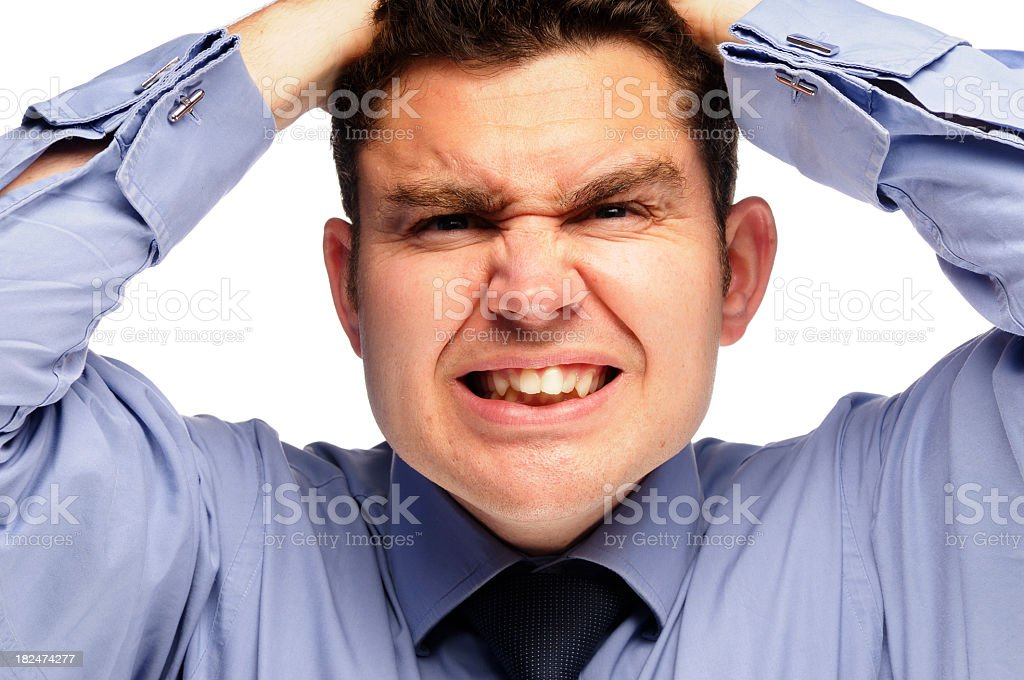 Frustrated Businessman In Despair stock photo