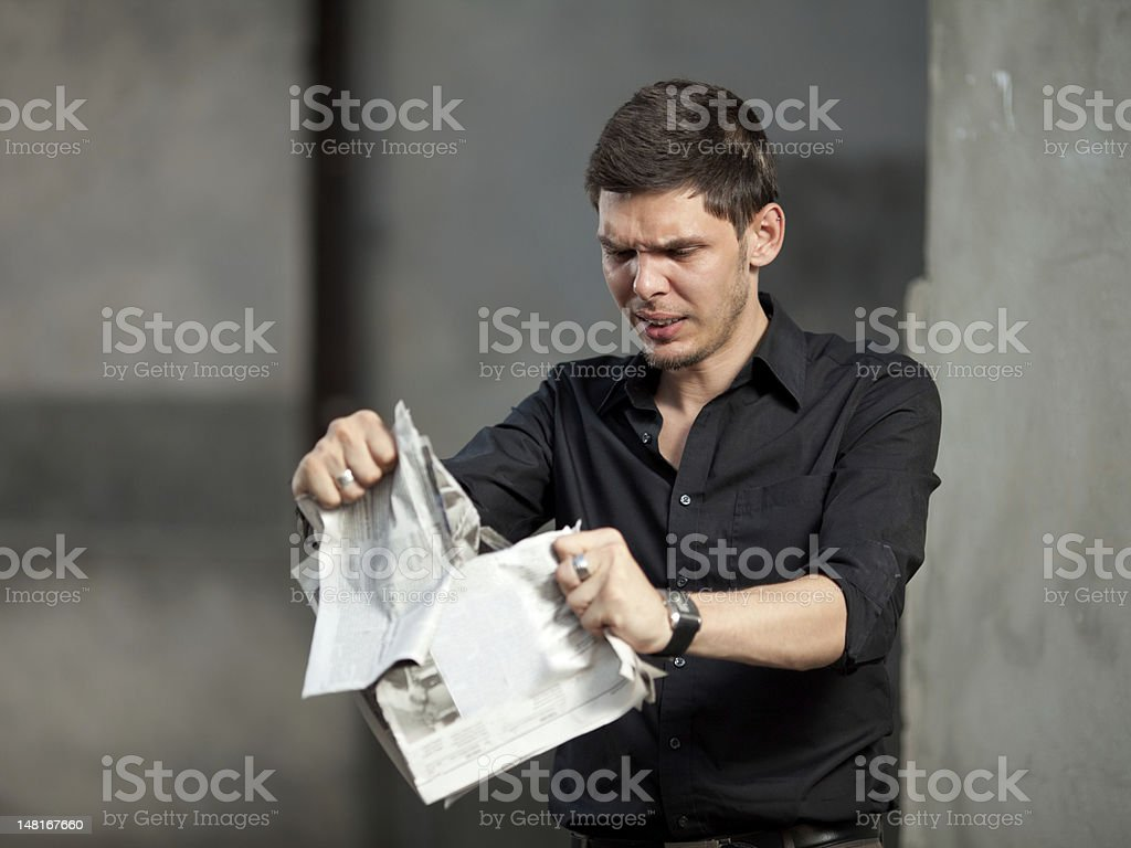 Frustrated businessman royalty-free stock photo