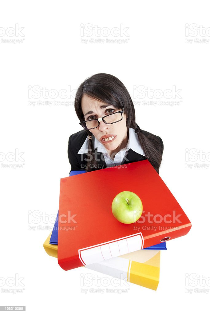 frustrated businesswoman royalty-free stock photo