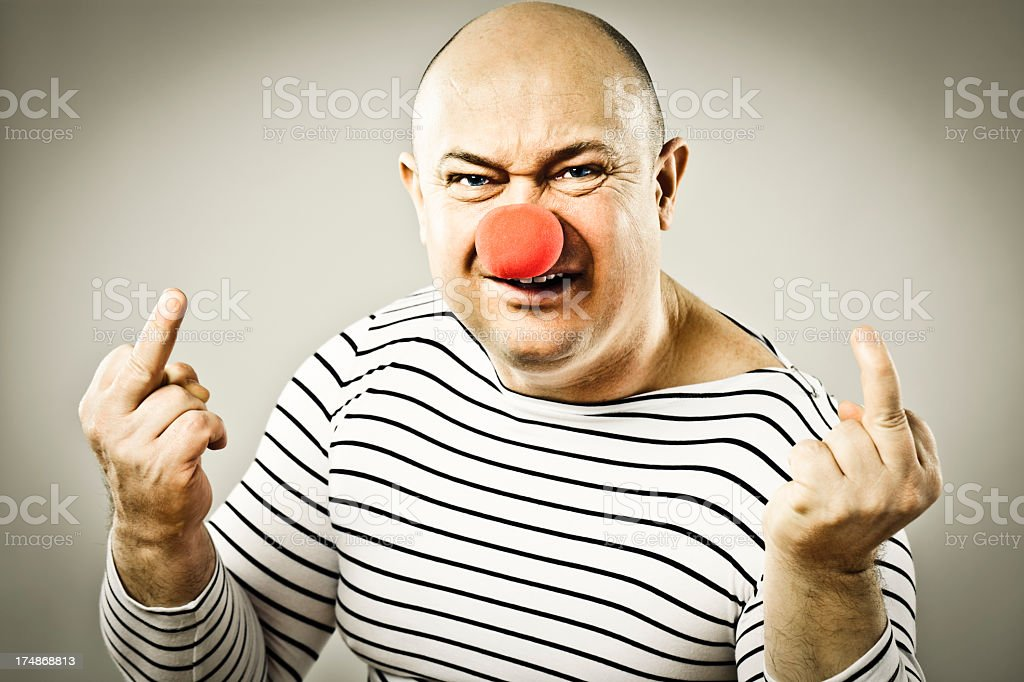 Frustrated clown royalty-free stock photo