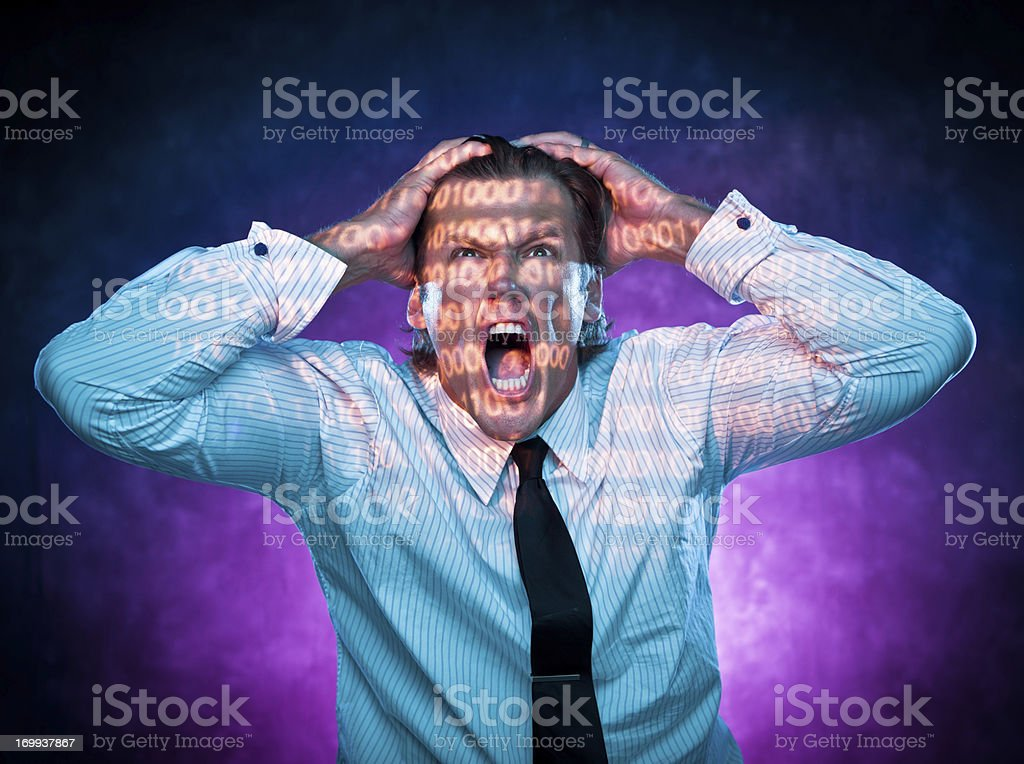 Frustrated Computer Programmer royalty-free stock photo