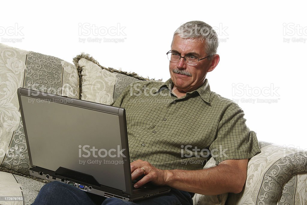 Frustrated Computer User royalty-free stock photo