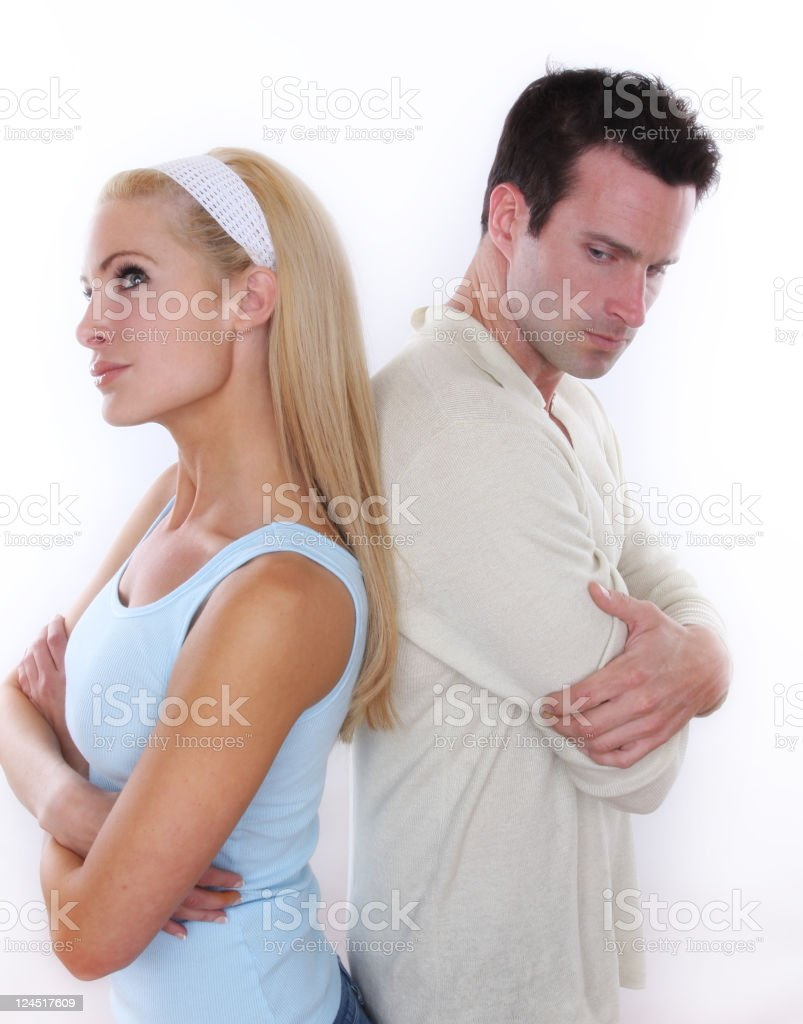 frustrated couple royalty-free stock photo