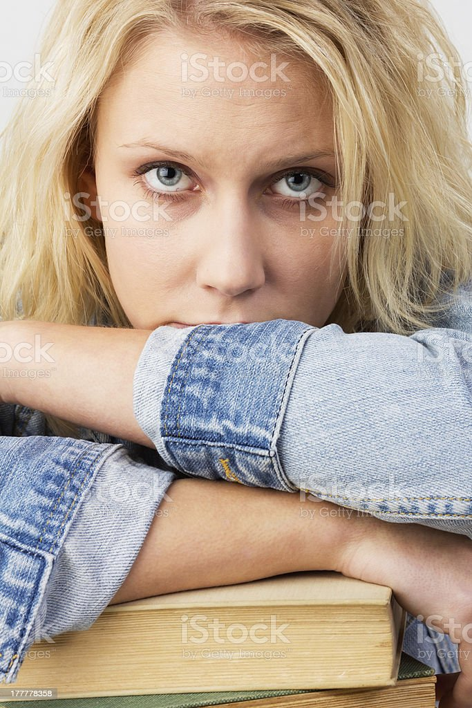 Frustrated female student royalty-free stock photo