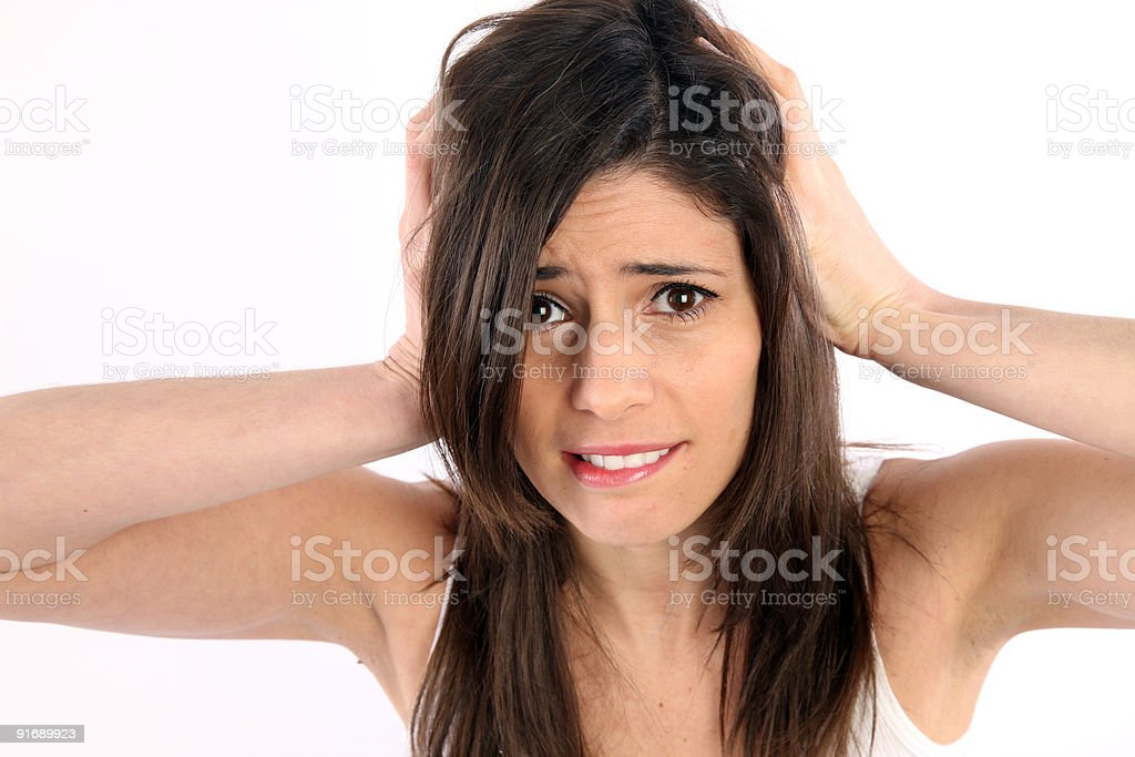 Frustrated girl royalty-free stock photo
