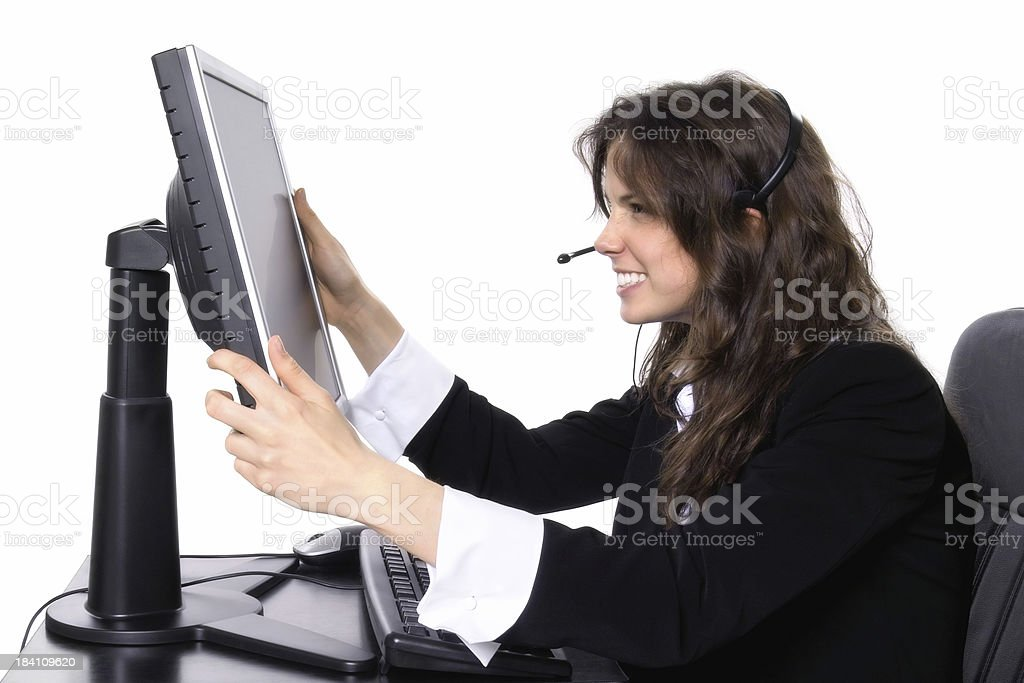 Frustrated Helpdesk stock photo
