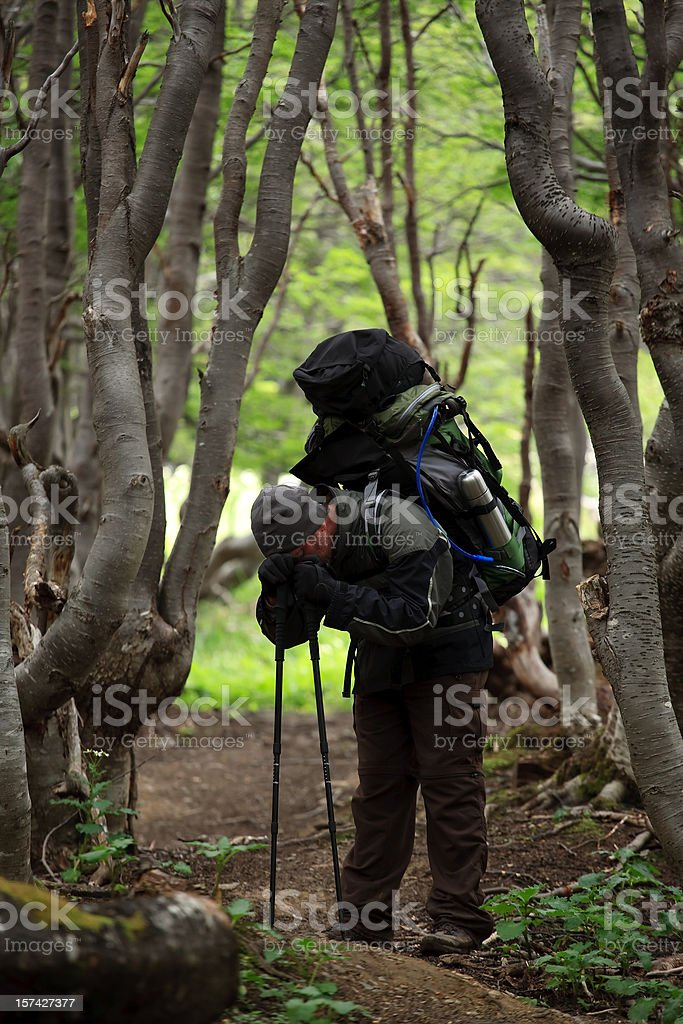 Frustrated Hiker royalty-free stock photo
