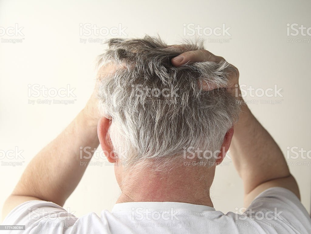 frustrated man stock photo
