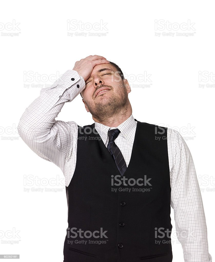 Frustrated man royalty-free stock photo